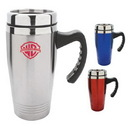 Custom DW1153 16 oz. Double Wall Stainless Steel Travel Mug, 5-2/5 W x 7-1/8 H