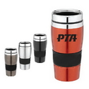 Custom DW1156 Stainless Steel 16 oz. Double Wall Sure-Grip Tumbler, 3-2/5 W x 7 H