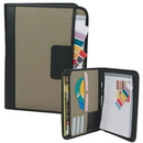 Custom PAD1842 Two Tone 600D Polyester Executive Writing Pad, 10 L x 13 H