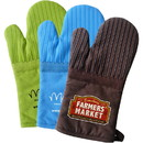 Custom Om204 Oven Mitt with Silicone Stripes, Silkscreen or Heat Transfer