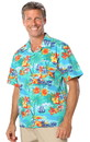 Blank Blue Generation BG3103 4.5 Ounce Poplin Adult Print Camp Shirts