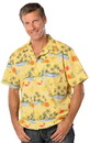 Blank Blue Generation BG3104 Adult Stain Release Side Vent Print Camp Shirts