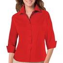 Blue Generation BG6330 - Ladies 4.80 oz 3/4 Sleeve Fine Line Twill Shirt