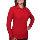 BG6502 - Ladies Rib Knit Collar Long Sleeve Polo