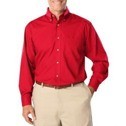 Mens Easy Care Stretch POPLIN Long Sleeve Shirt Blue Generation BG7218