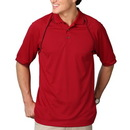 Blue Generation BG7220 - Men's Wicking Polo with Contrast Piping