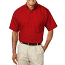 Blue Generation BG7266S - Men's Short Sleeve Easy Care Poplin with Matching Buttons