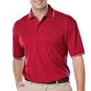 BG 7301 - Men's Striped Trim Wicking Polo