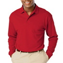 BG7502 - Adult Long Sleeve Pique Polo
