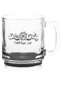 Custom 9 oz. Coffee Mugs, Glass, 3.5