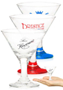 Custom 3oz Libbey Embassy Mini Martini Glasses, 3.25