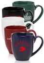 Custom 16oz Bistro Coffee Mugs, Stoneware, 4.1