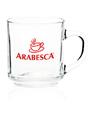 Custom 10oz Arc Handy Glass Coffe Mug, Glass, 3.1