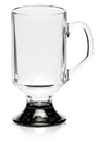 Custom 10oz Arc Footed Sports Glass Mug, Glass, 2.75