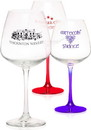Custom 18.25oz Diamond Balloon Wine Glasses, 4