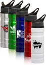 Custom 27.25 oz. Logo Aluminum Sports Bottles with Straw, Aluminum, 10.5