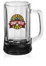 Custom 11.3 oz. Optic Beer Mugs, Glass, 5.35