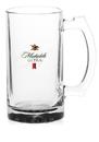 Custom 16oz Imported Sports Beer Mugs, Glass, 4.125