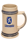 Custom 17 oz. Ceramic Stoneware Tankard Beer Mugs, Stoneware, 6.45