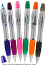 Custom Pens with Highlighter Pens, Plastic, 5.625