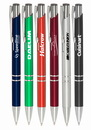 Custom Retractable Ballpoint Pens, Plastic Body, Metal Accents, 0.55