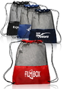 Custom Mesh Sports Packs, 210D Polyester + Black Mesh, 17.75
