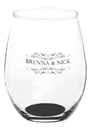 Custom 15oz Arc Perfection Stemless Wine Glasses, 2.5