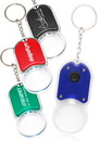 Custom Magnifying Glass Keychains with Led Light, Plastic, 2.75