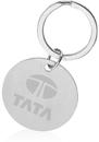 Blank Simple Rounded Key Chain, Polish Chrome Metal, 2.25