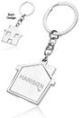 Blank House Metal Keychains, Metal, 4