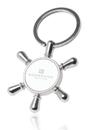 Blank Ship Wheel Keychains, Metal, 1 5/8
