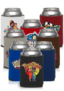 Custom Full Color Budget Collapsible Can Coolers, Polyurethane Foam, Holds Most 12-16 oz. Cans, Longnecks, And Water Bottles