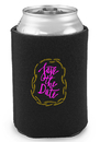 Custom Premium 4Mm Collapsible Can Coolers, Polyurethane Foam 4Mm, Holds Most 12-16 oz. Cans, Longnecks, And Water Bottles