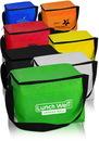 Custom 6 pk Cooler Lunch Bags, 210D pu + 2mm Pe Cotton + 12C Peva, 7.25