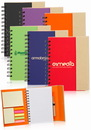 Custom 5.25 x 7 In. Eco Flip Top Notebooks with Sticky Notes, Recycled Covers and Paper