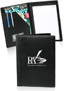 Custom 13 in x 9.75 in Promotional Black Padfolios, PU Leather
