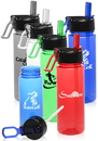 Custom 22 oz. Plastic Sports Bottles, BPA Free Plastic, 8.25