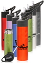 Custom 25 oz. Slim Stainless Steel Bottles, Stainless Steel, 10