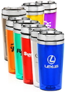 Custom 16oz Double Insulated Travel Tumblers, Stainless Steel / Plastic, 7