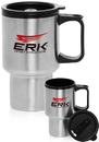 Custom 14oz Travel Mugs Stainless Steel, Stainless Exterior / Plastic Interior