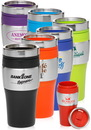 Custom 16 oz. Color Fusion Tumblers, Plastic & Stainless Steel, 7