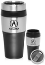 Custom 16oz Insulated Travel Mugs, Plastic & Steel Exterior / Plastic Interior