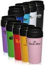 Custom 16 oz Imprinted Travel Mugs, Plastic, 3.25