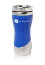 Custom 13 oz Solaris Travel Coffee Mugs with Stainless Steel Interior, Plastic, Rubber & Stainless Steel Exterior / Stainless Steel Interior