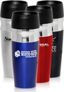 Custom 16oz. Double Insulated Travel Mugs, Stainless Steel, 8.25