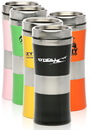 Custom 16oz Glossy Colored Stainless Steel Travel Mugs, Stainless Interior/Acrylic Plastic Exterior