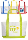 Custom Premium Tote Bag, 600 Denier Polyester White Canvas, 18.5