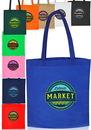 Custom Popular None-Woven Tote Bags, 80 Gsm Non-Woven Polypropylene, 13.5