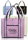 Custom Premium Fashion Tote Bags, Tough 600 Denier Color Polyester, 16.25