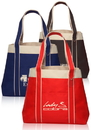 Custom Donna Tote Bags, Tough 600 Denier Polyester, 16.25